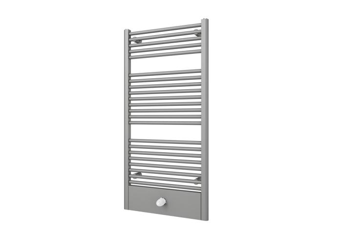 Designradiator Boss & Wessing Locco Middenaansluiting 121,5x60 cm 660 Watt Pearl Grey