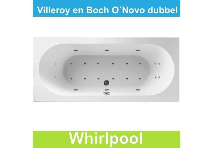 Ligbad Villeroy & Boch O.novo 190x90 cm Balboa Whirlpool systeem Dubbel | Tegeldepot.nl