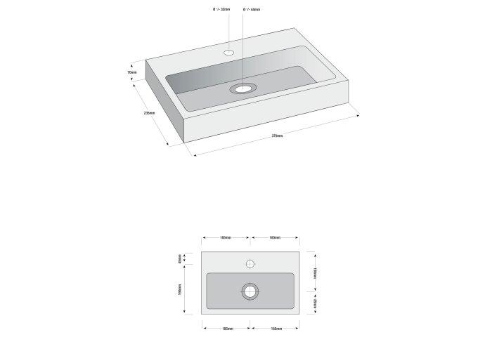 Hardstenen Fonteinset Karl 37x23x7 cm