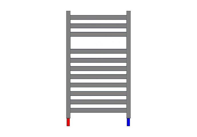Designradiator Nile Gobi 170x60cm Wit Zij aansluiting