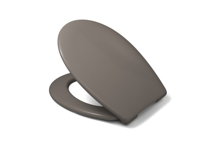 Toiletzitting Van Marcke Sana Take-off Softclose Thermoplast Taupe