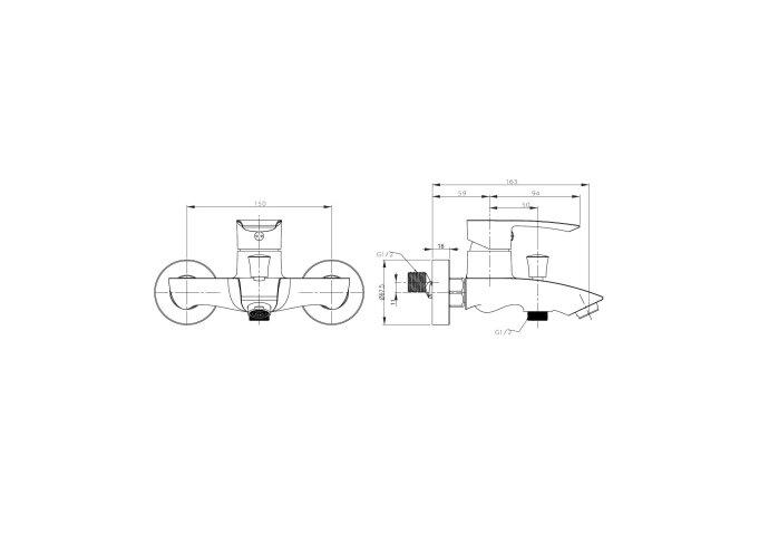 Opbouw Badkraan Sapho Trevia Mengkraan 1-hendel 9.4 cm Chroom