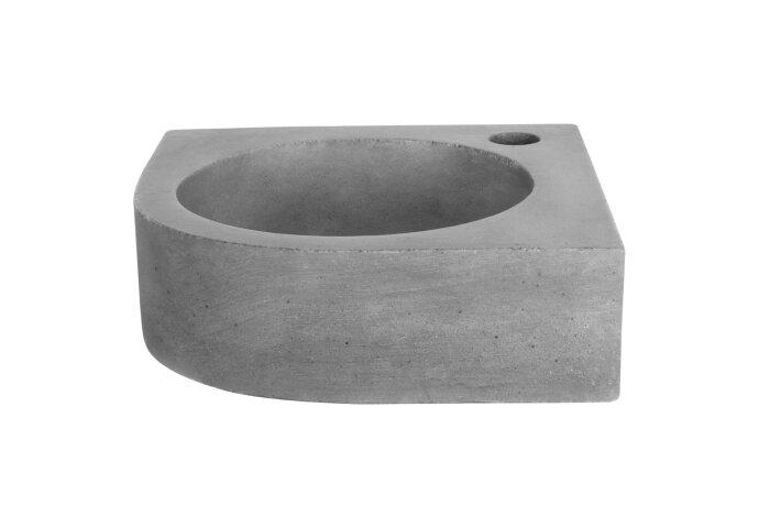 Fontein Differnz Cleo Hoekfontein 30x30x10 cm Beton Donker Grijs