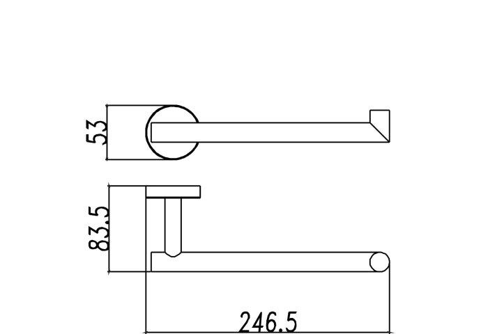 Wiesbaden handdoekbeugel RVS compact 304