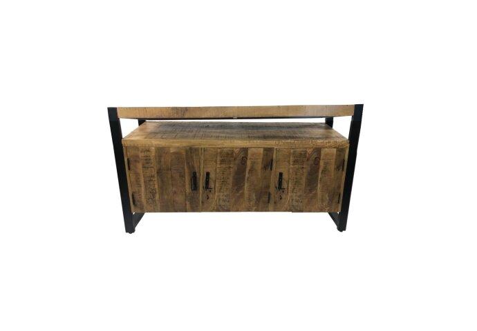 Onderkast Boss & Wessing Mango Wood 135x45x81cm Met Mat Zwart Metaal
