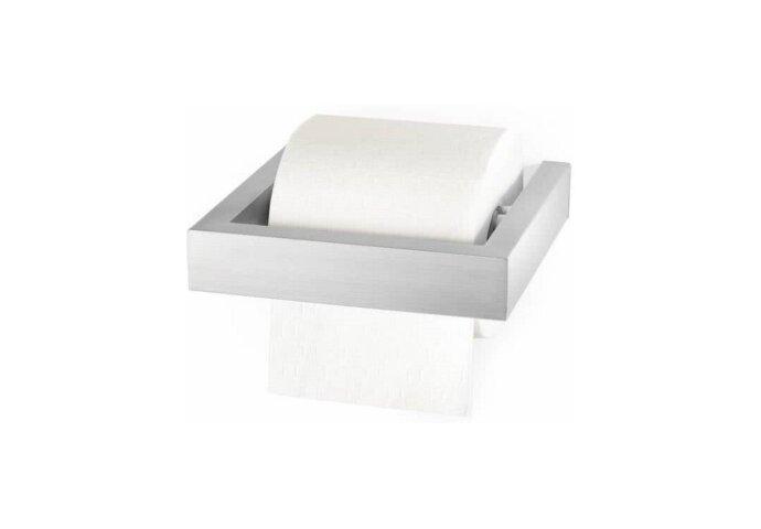 Toiletrolhouder Zack Linea 16x14 cm Geborsteld RVS
