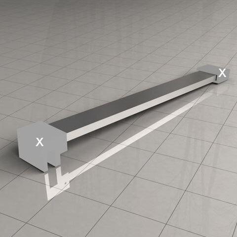 Losse vierkante stabilisatiestang 100cm