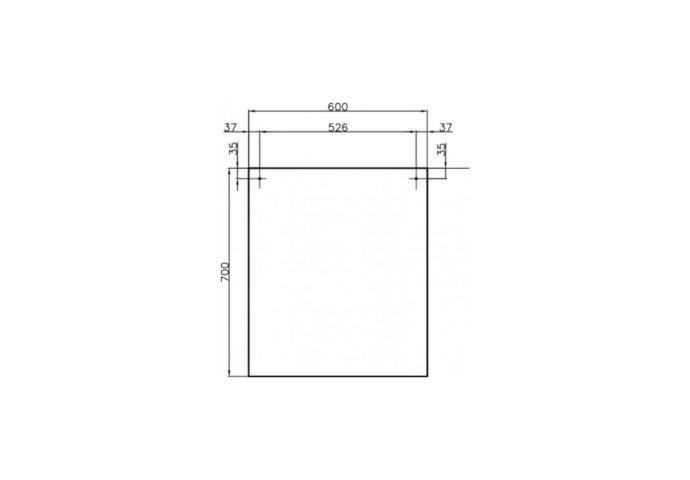 Badkamermeubelset Dekker Pesaro 60x50x45.5 cm Hoogglans Wit