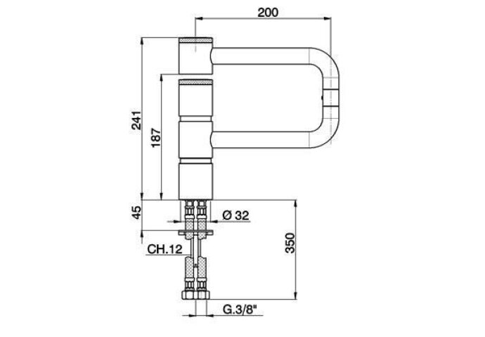 Cisal Keukenkraan Cucina Chroom LC00053021