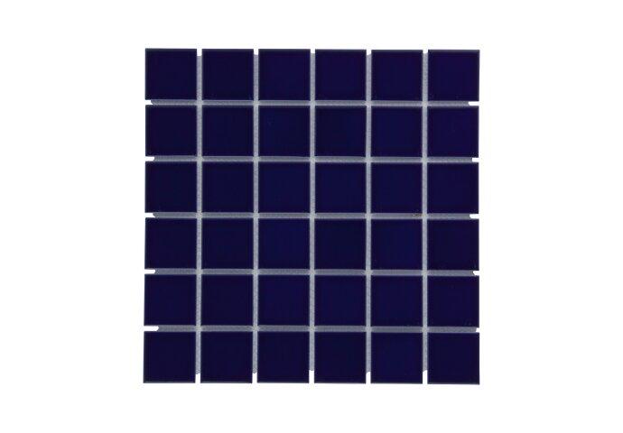 Mozaïek Barcelona 30.9x30.9cm Geglazuurd Porselein Glanzend Donker Blauw (Prijs Per 0.95 m2)