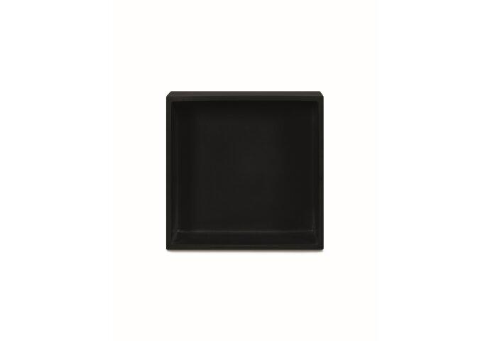 Inbouwnis Luca Sanitair 29.5x29.5x8 cm Polystone Antraciet