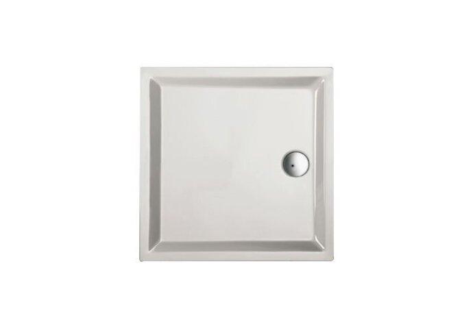 Douchebak acryl+ wit 100 x 100 cm vierkant 4cm hoog