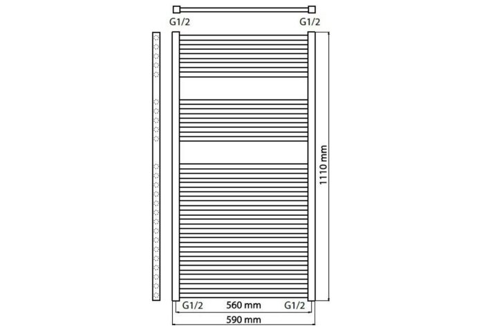 Designradiator Haceka Sahara Adoria 59x111 cm Wit (628 Watt)