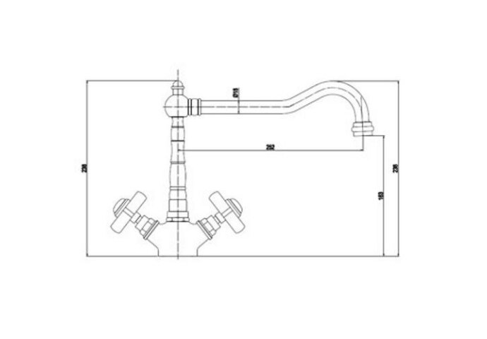 James keukenkraan met rechte uitloop chroom (Keukenkraan)