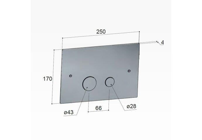 Bedieningspaneel Hotbath Cobber t.b.v. Geberit UP320 Geborsteld Koper