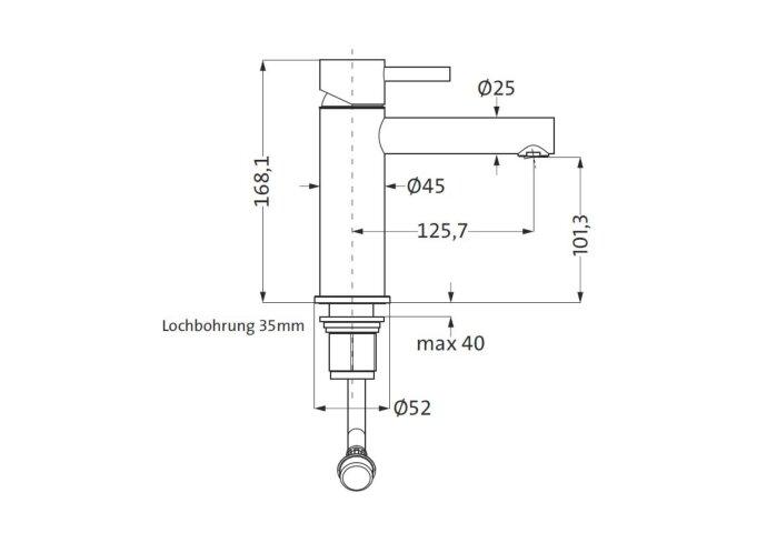 Wastafelmengkraan Herzbach Design IX PVD-Coating Koper