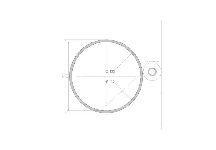 Ronde Badkamerspiegel LED BWS Spark Edge 120 cm