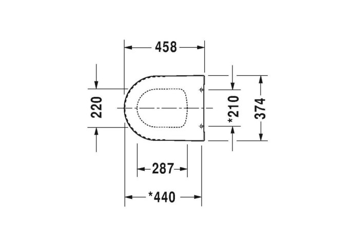 Duravit Toiletzitting ME By Starck Softclose En Quickrelease Systeem 45.8x37.4x5.6 cm Duroplast Wit