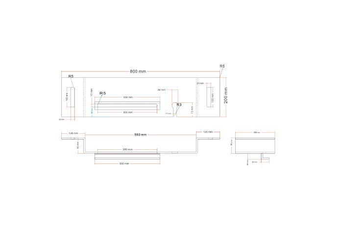 Badplank BWS met Ipad en Wijnglashouder Acryl Mat Wit