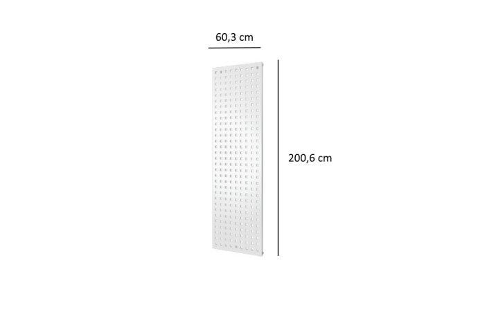 Designradiator Plieger Quadrata 1300 Watt Middenaansluiting 200,6x60,3 cm Wit