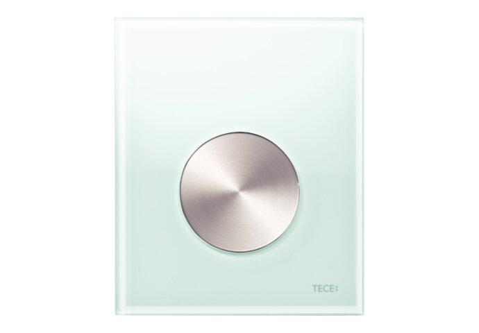 Urinoir Bedieningsplaat TECE Loop Glas Mintgroen 10,4x12,4 cm (met RVS geborstelde toets)