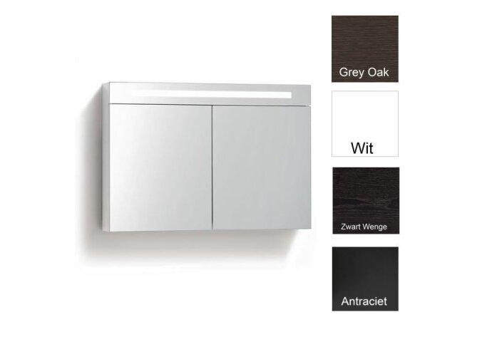 Spiegelkast met verlichting & wcd 100 cm (4 verschillende kleuren)