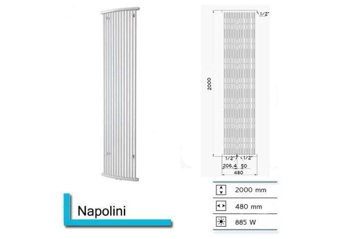 Designradiator Boss & Wessing Napolini 2000 x 480 mm | Tegeldepot.nl