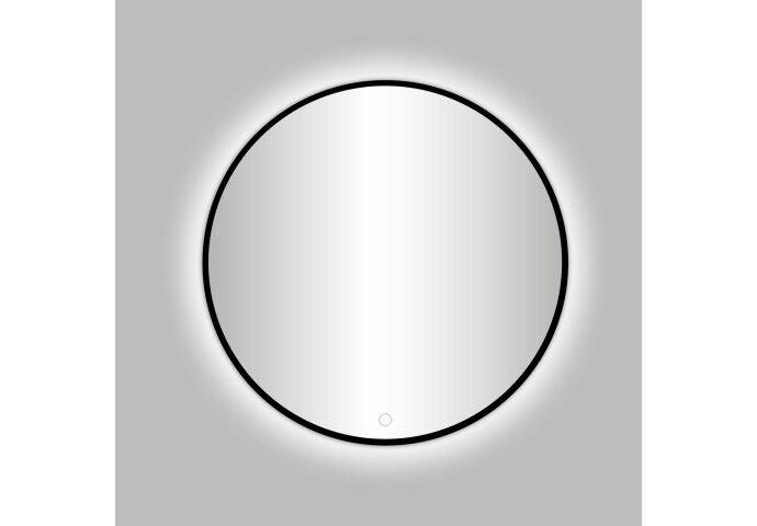 Badkamerspiegel Best Design Venetië Nero LED Verlichting Rond Mat Zwart (alle maten)