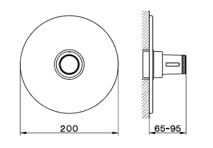 Cisal Less Inbouw Thermostaatkraan LS0019002A