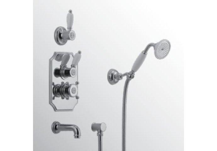 Huber Victorian Thermostatische Inbouw Doucheset Chroom/Goud 915.VT01H.CA