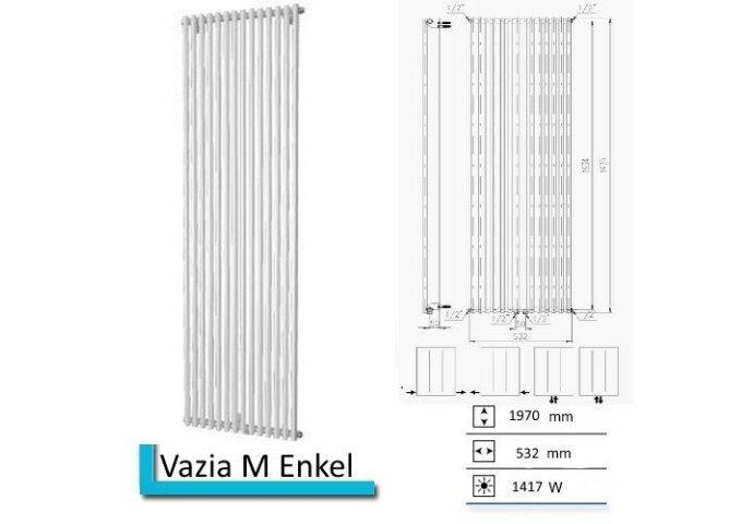 Designradiator Vazia M Enkel 1970 x 532 mm Wit structuur