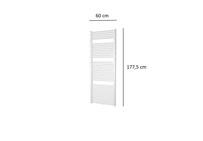Designradiator Plieger Palmyra 1019 Watt Midden- of Zijaansluiting 177,5x60 cm Wit