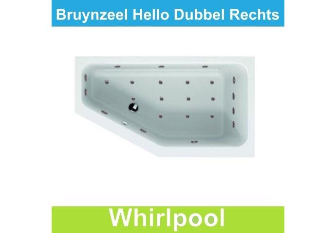 Whirlpool Bruynzeel Hello offset rechts 160 x 90 cm Dubbel systeem   Tegeldepot.nl