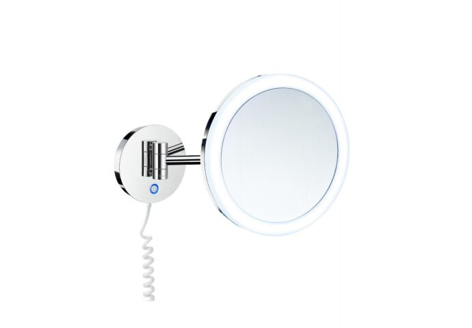 Vergrotingsspiegel Smedbo Outline Draaibaar met LED PMMA Dual Light Warm-Koel Chroom