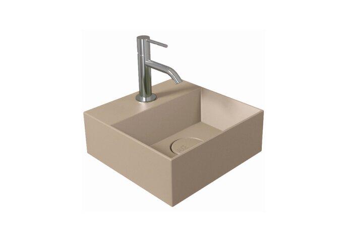 Fontein Salenzi Spy 30x30 cm Mat Taupe (inclusief bijpassende waste)