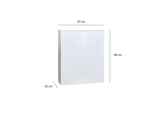 Kolomkast Sanicare Q7 2-Deurs Soft-Closing Greeploos 90x67x32 cm Antraciet