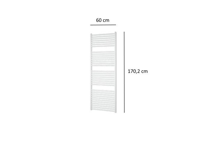 Designradiator Plieger Vulcano 921 Watt Zijaansluiting 170,2x60 cm Wit