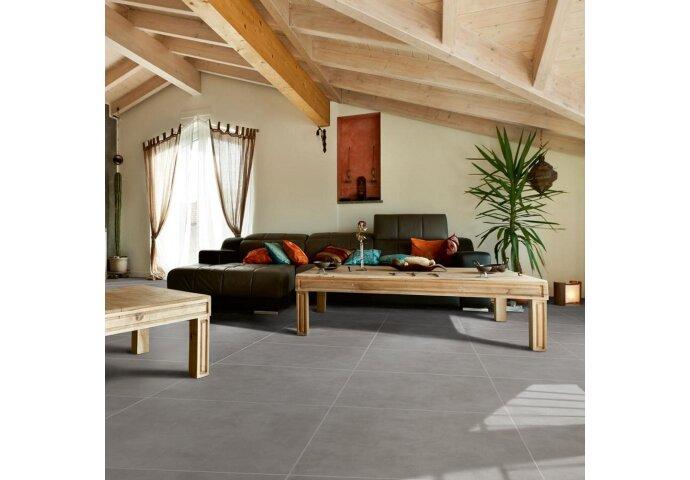 Vloertegel Cristacer Nantes Negro 60x60cm | Tegeldepot.nl