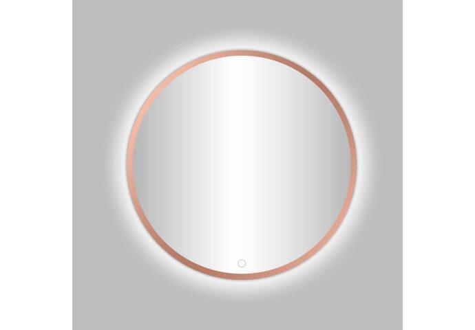Badkamerspiegel Best Design Venetië Lyon LED Verlichting 60x60 cm Rond Mat Rose Goud