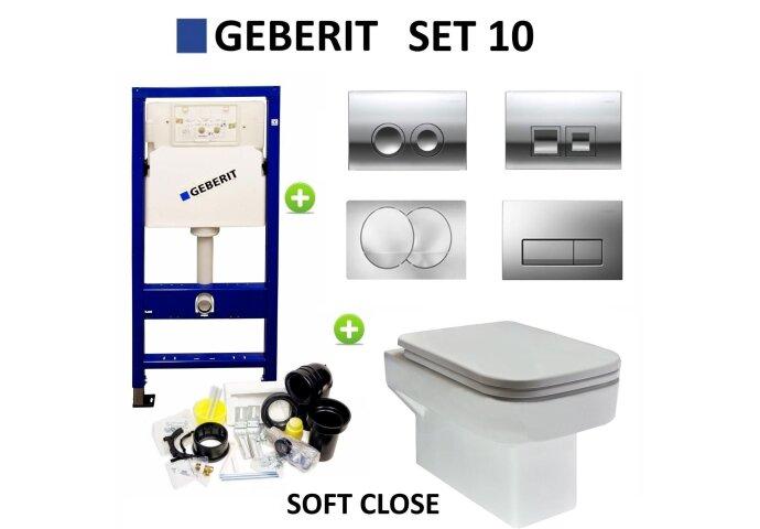 Geberit up100 set10 Carre met Delta drukplaten