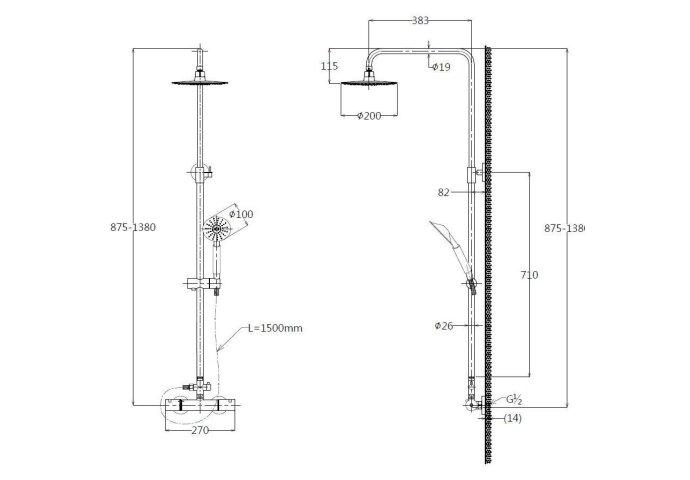 uche opbouwset Best Design Ore Munchen Thermostatisch RVS