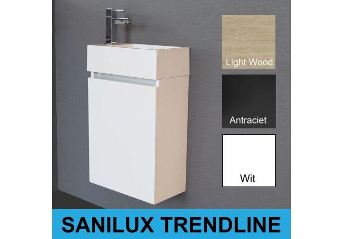 Fonteinkast Sanilux Trendline Links/Rechts Draaiend (leverbaar in 3 kleuren)