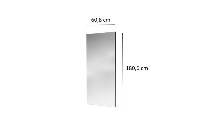 Designradiator Plieger Perugia Specchio 749 Watt Met Spiegel 180,6x60,8 cm Wit