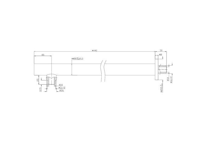 Luxe douche-arm rond muurbevestiging 35cm chroom Boss & Wessing