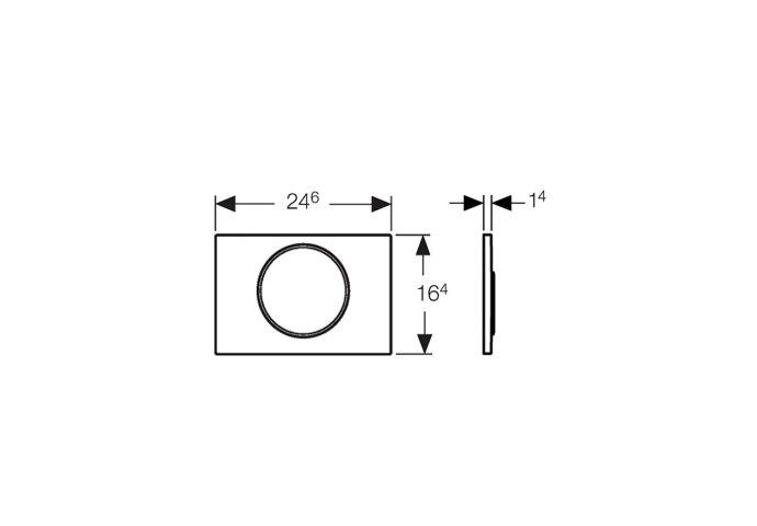 Bedieningsplaat Geberit Sigma 10 + DuoFresh Geurzuiveringssysteem Mat Chroom