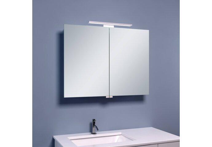 BWS LED Spiegelkast Luxe Aluminium 80x60x14 cm