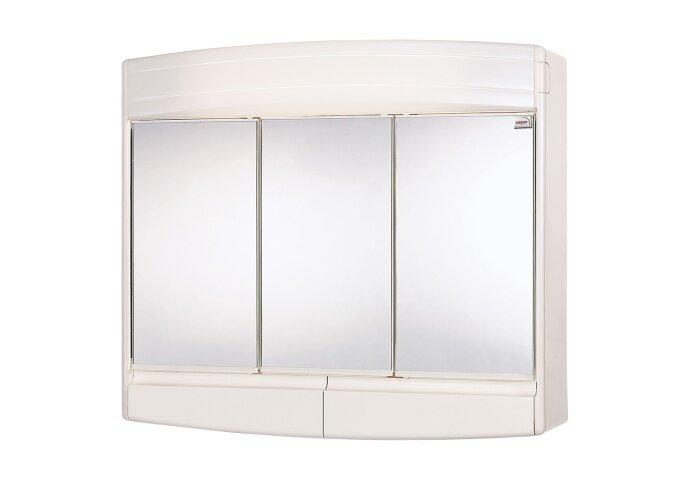 Spiegelkast Differnz Topas Eco met 3 Deuren en Verlichting Wit