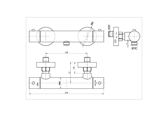 Opbouw Douchethermostaat Best Design Nero Zagaro Mat Zwart