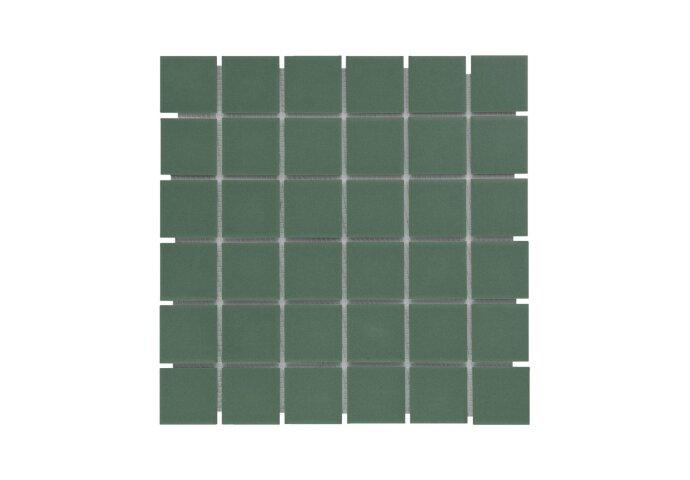 Mozaïek London 30.9x30.9cm Onverglaasd Porselein, Mat Antislip En Groen (Prijs Per 0.96 m2)