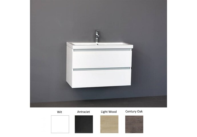 Badkamermeubelset Sanilux Trend Keramiek 80x47x50 cm (in vier kleuren leverbaar)